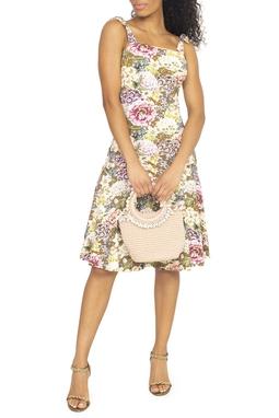 Vestido Curto Estampa Floral Regata - DG15450
