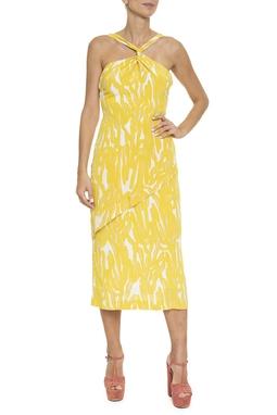 Vestido Regata Estampa Amarela - DG16436