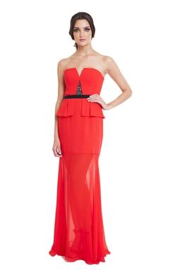 Vestido Aleen Vermelho CLM
