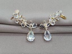 Brinco Suntuoso Ouro Cristal Cristal