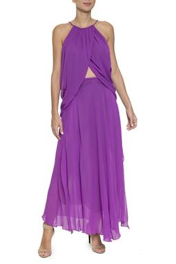 Vestido Roxo Seda - DG16402