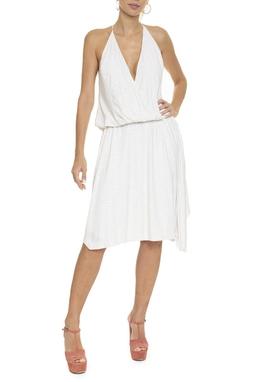 Vestido Midi Branco Hotfix - DG16375