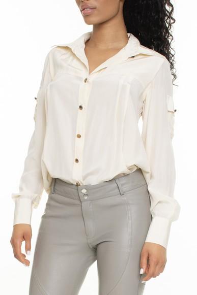 Camisa 100% Seda Off White - DG15171 Daslu