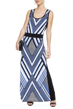 Vestido Estampado Listras - DG15548