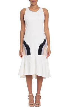 Vestido Midi Algodão Branco - DG19580