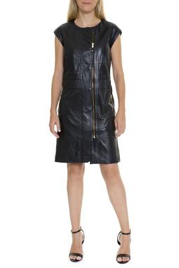 Vestido De Couro Preto - DG15675