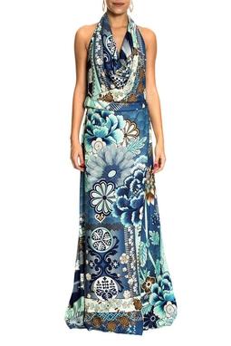 Vestido Estampado Decote Costas - DG10705