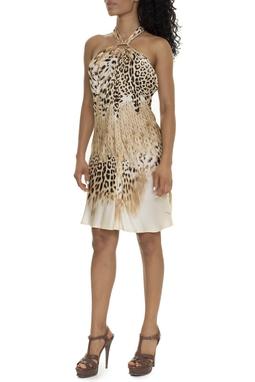 Vestido Curto Frente Única Animal Print - DG16007