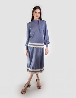 Blusa Tricô - Blue Jeans