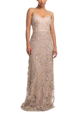 Vestido Longo Alça Nude HM - DG18650