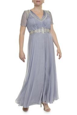 Vestido Cinza Bordado - DG16931