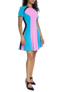 Vestido Curto Bicolor - DG15535