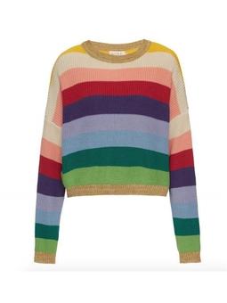 Tricot Rainbow Listrado Colorido USTL