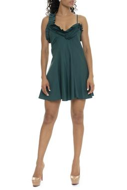 Vestido Curto Evase Babado - DG15805