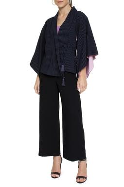 Calça Básica Pantalona Preta - DG15151