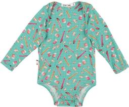 Body bebê manga longa micromodal Estojo