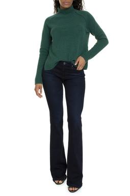 Calça Jeans Escuro Cintura Alta Flare - DG15580