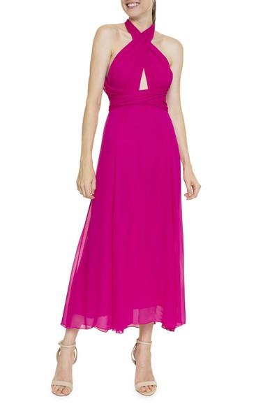 Vestido Midi Pink Seda - DG16382 Animale