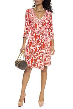 Vestido Envelope Estampa Laranja - DG15653