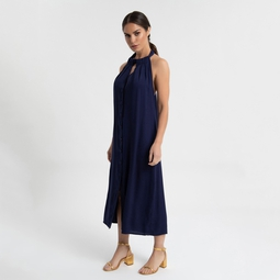 Vestido Aya azul marinho
