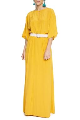 Vestido Longo Amarelo Solto - DG15468