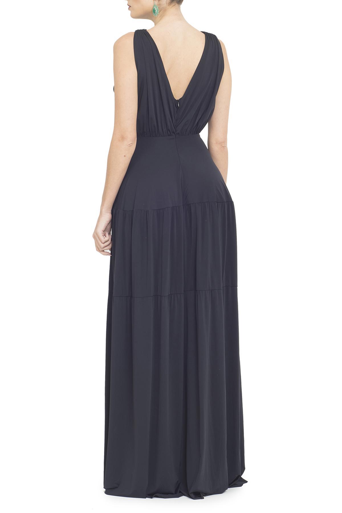 Vestido Tamsin Black Anamaria Couture